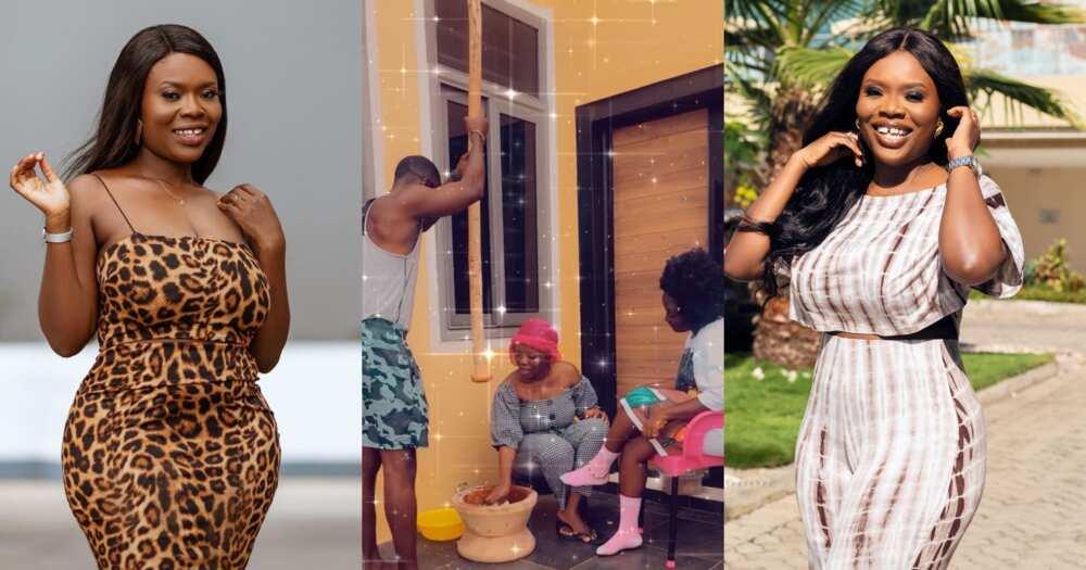 Delay and Okyeame Kwame pound fufu