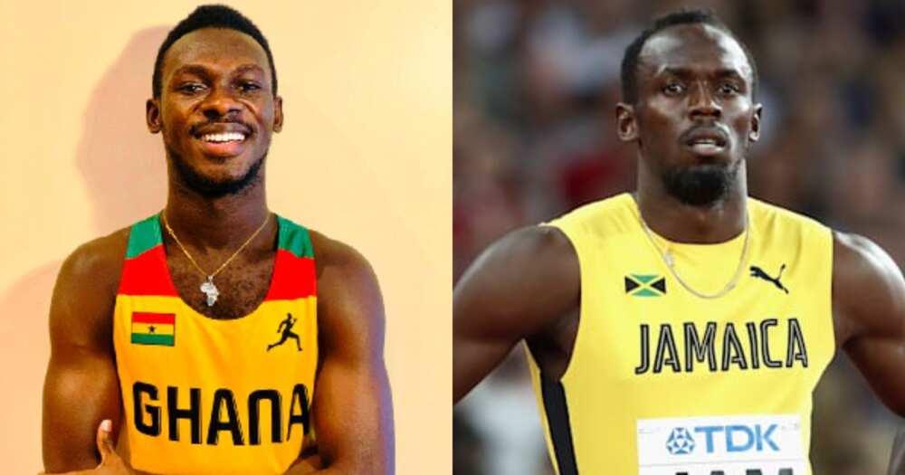 Benjamin Azamati and Usain Bolt