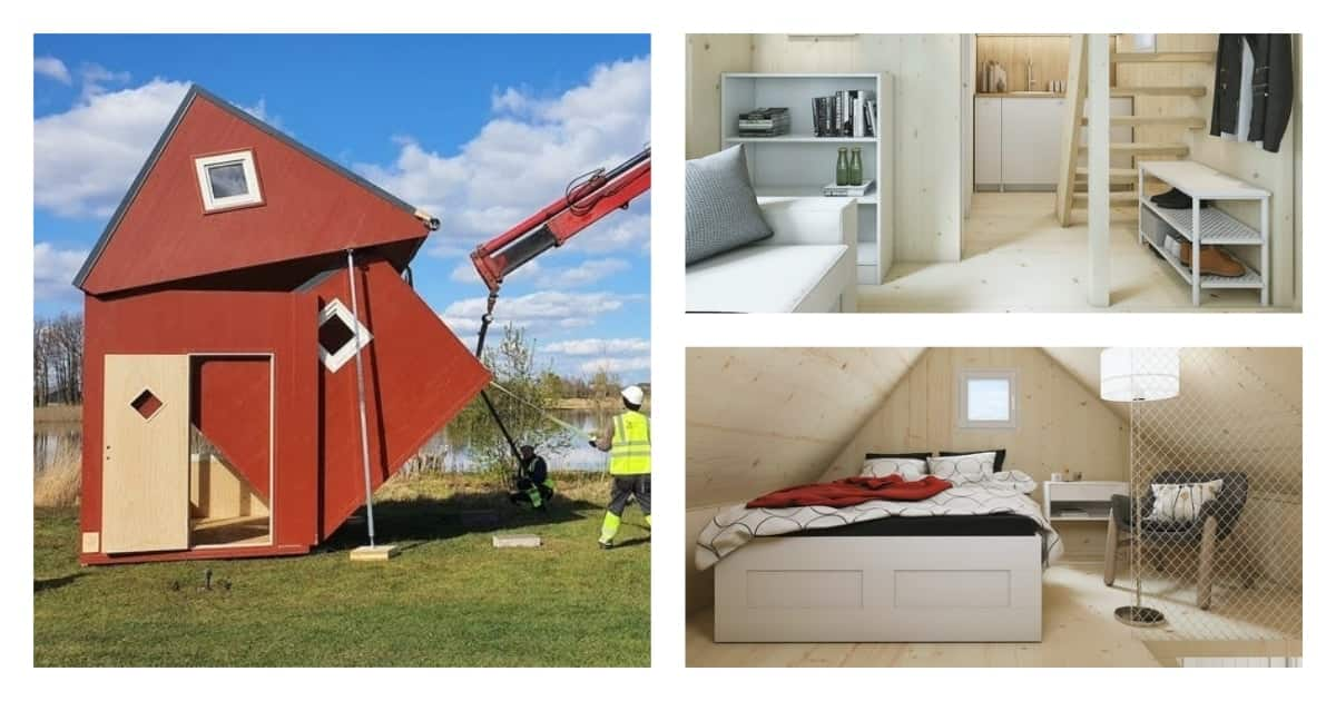 A look into the GHC350k folding house that can be delivered in a box