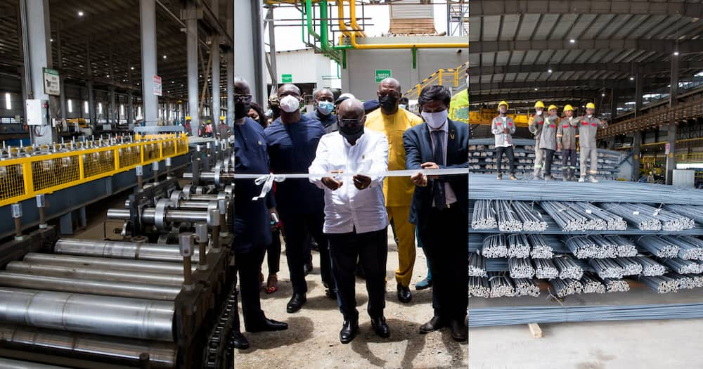 President Akufo-Addo commissions the biggest steel factory in West Africa