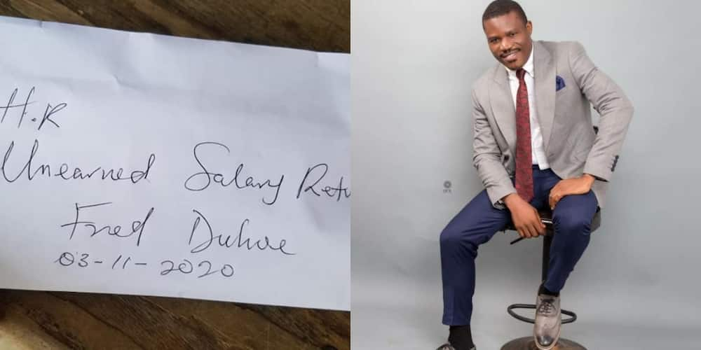 Honest National service personnel returns salary paid to him for no working done