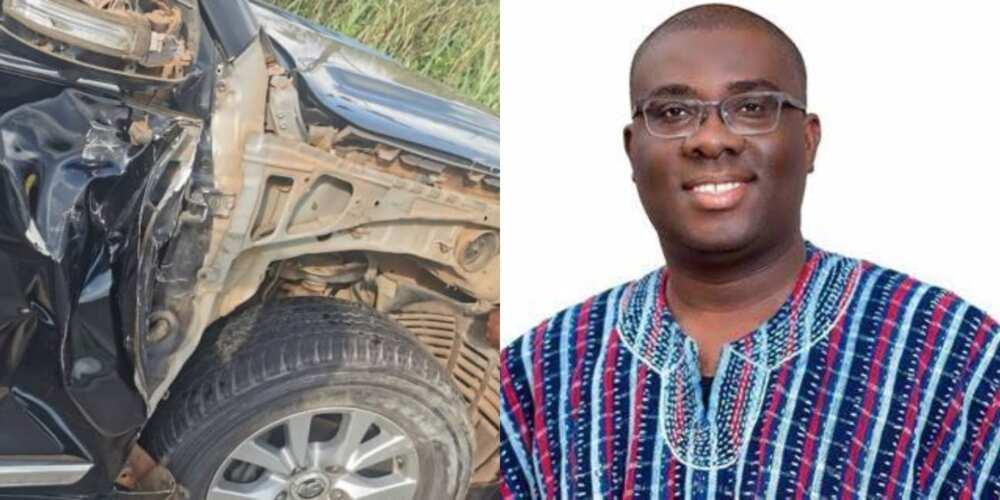 NPP's Sammy Awuku involved in car accident in the Ashanti Region