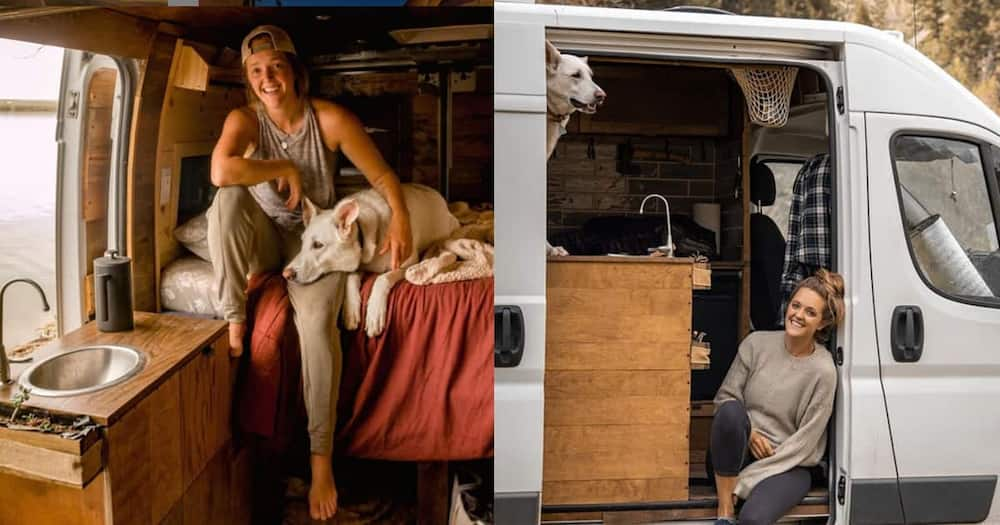Woman Dumps Boyfriend, Quits Job to Live with Her Dog in Furnished Van