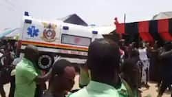 Ambulance driver shot by robbers while transporting a woman in labour gets buried in 'his car' (video)