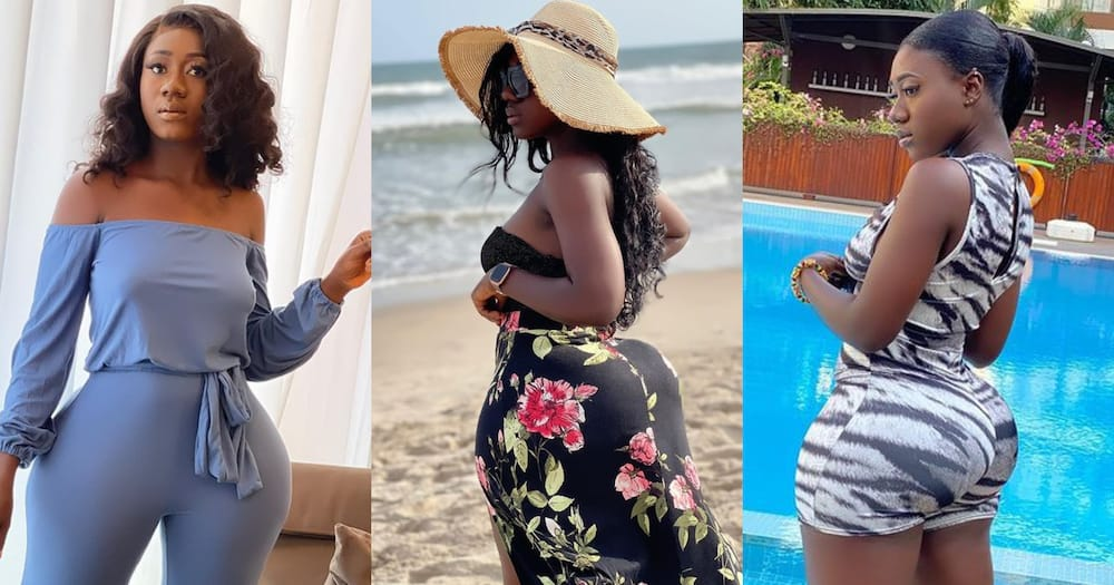 Hajia Bintu dazzles social media with photo wearing red jumpsuit; fans react