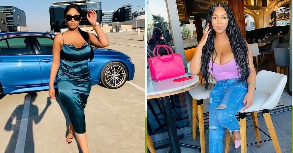 Abongile Majova has lamented the thug that stole her car and posted it on social media. Image: Instagram