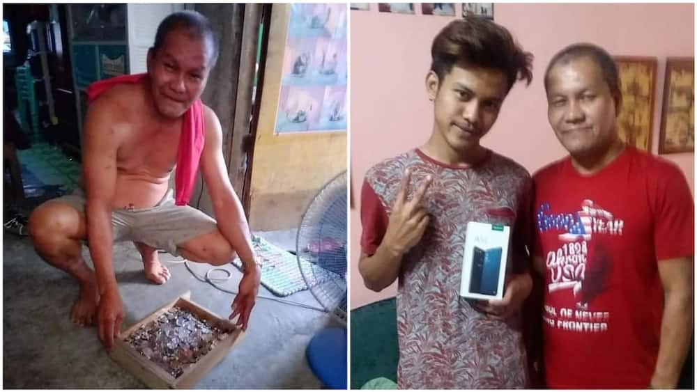 A collage of the father and son. Photo source: Facebook/CNN Philippines