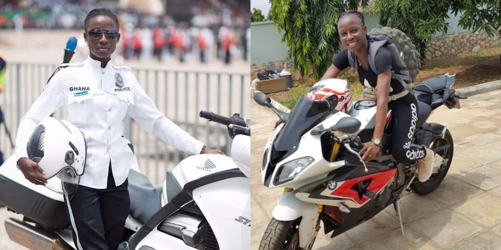 I've never taken bribe since I joined Ghana Police - Female biker Akua Gaddafi