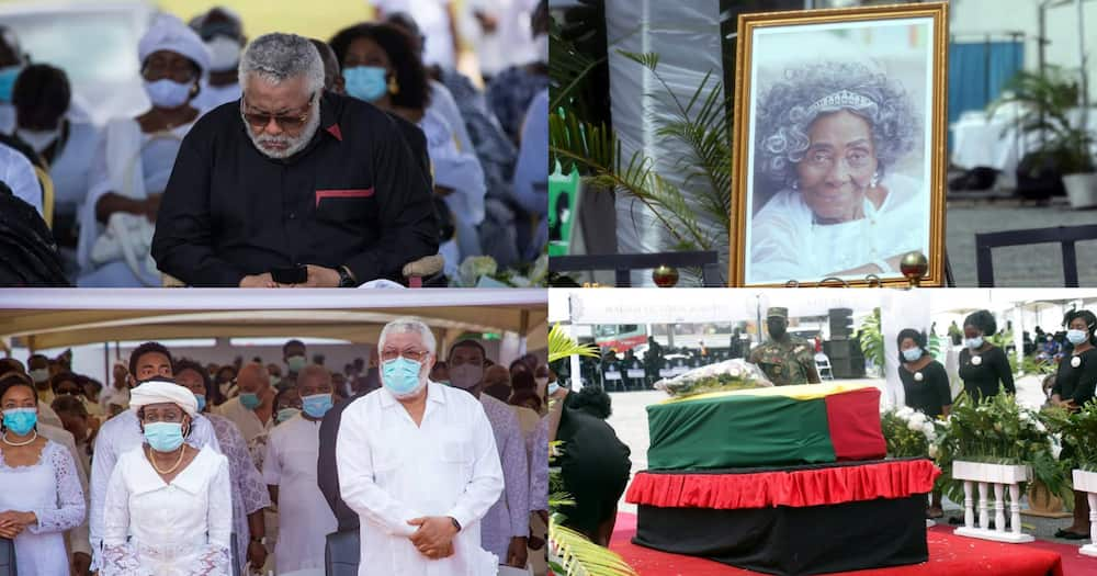 10 saddest photos from Rawlings' mother's funeral