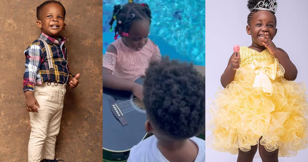Jidula: Stonebwoy's Daughter Gushes Over Her Brother Janam; Calls Him Cute (Video)