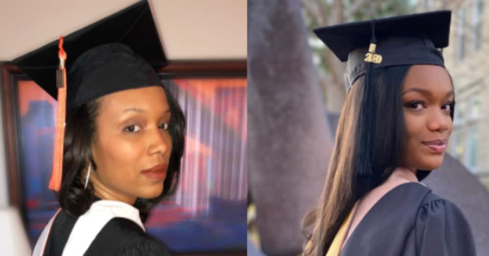 Determined lady bags her master's degree two years after her mom earned hers