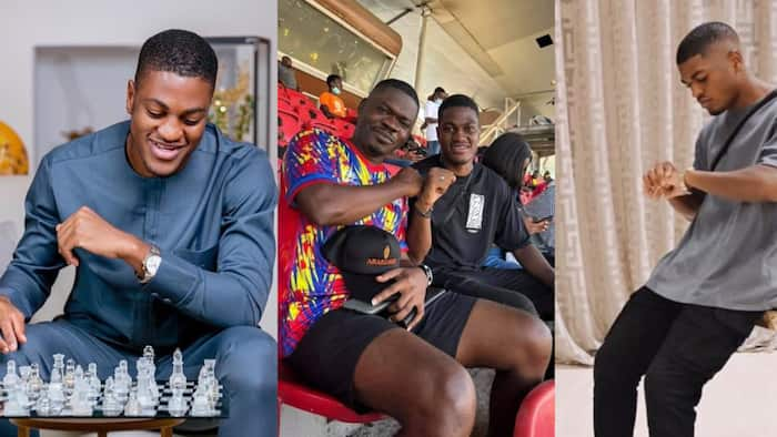 Ex-President John Mahama's son spotted watching Hearts v Wydad Casablanca game; photo drops