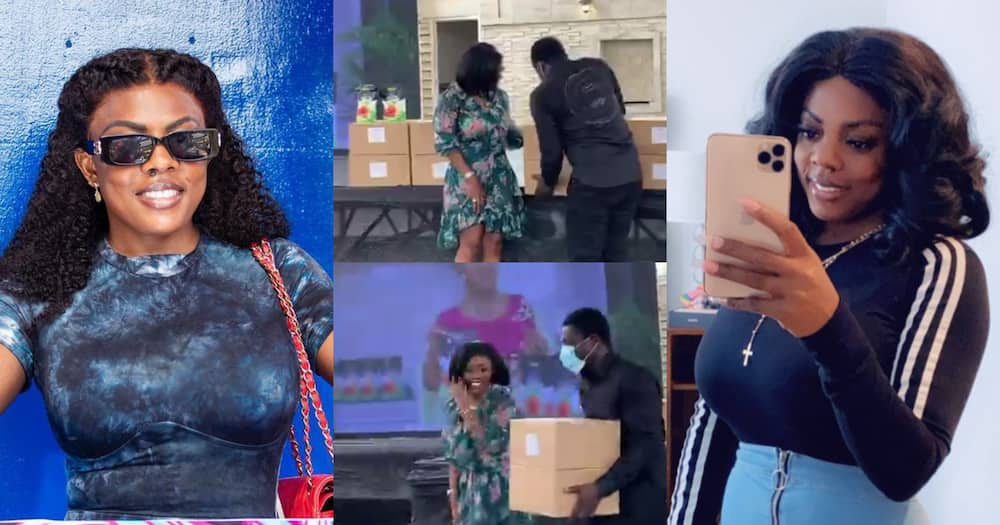 Nana Aba Anamoah Buys Two Boxes Of 'Bofrot' for GHC10k (Video)