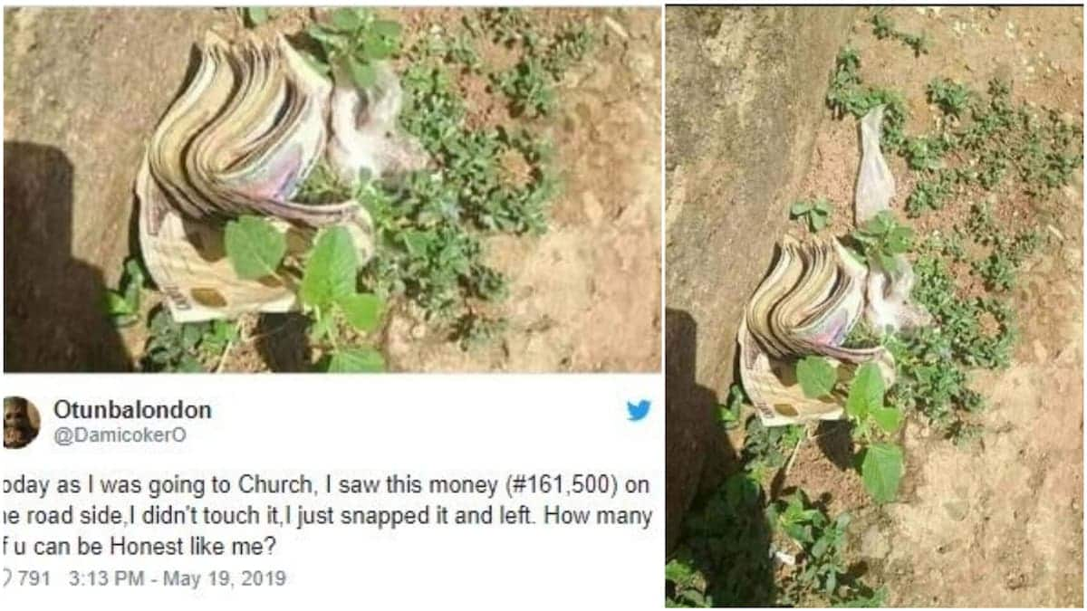 Man claims he saw over GHC 2k on his way to church but didn't touch it (photo)