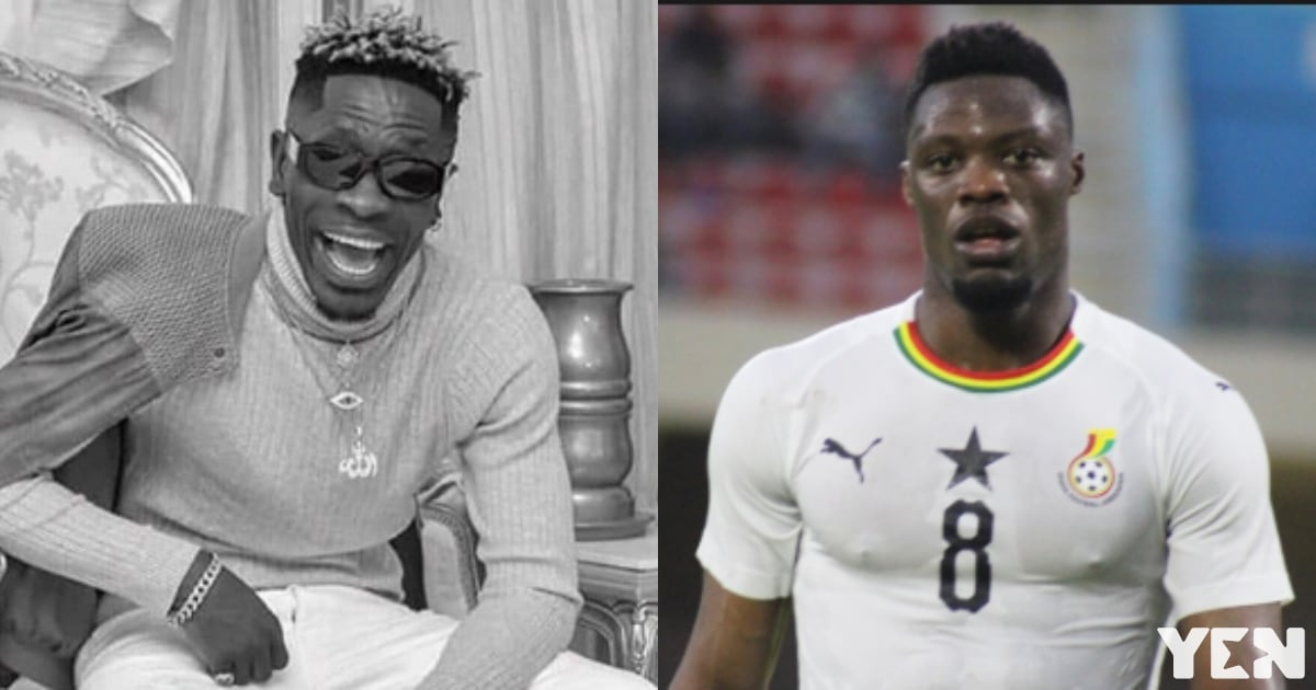 Shatta Wale drops funny video; gives Ekuban new name for missing penalty