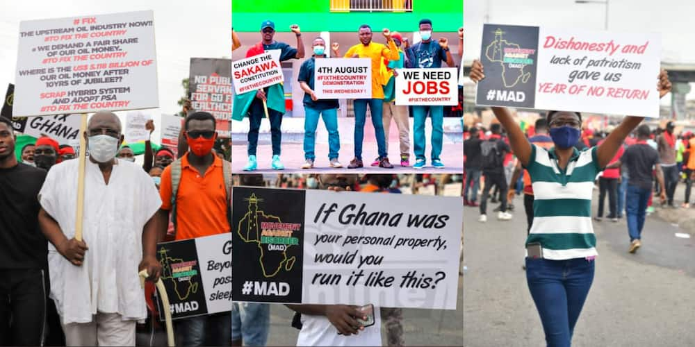 FixTheCountry: 10 powerful photos showing how protestors boldly told Akufo-Addo to level up
