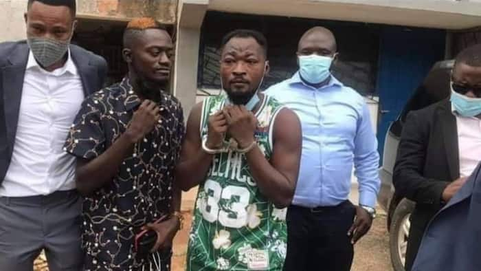 Lil Win storms court to support Funny Face; embraces him in video as police whisk him away