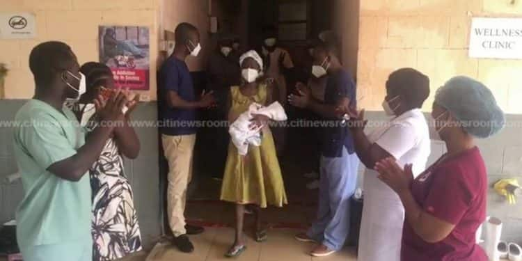 COVID-19: Infected woman who gave birth while on admission recovers