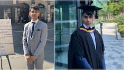 Oyinbo student who graduated from Manchester University takes to street to beg for job, stirs reactions