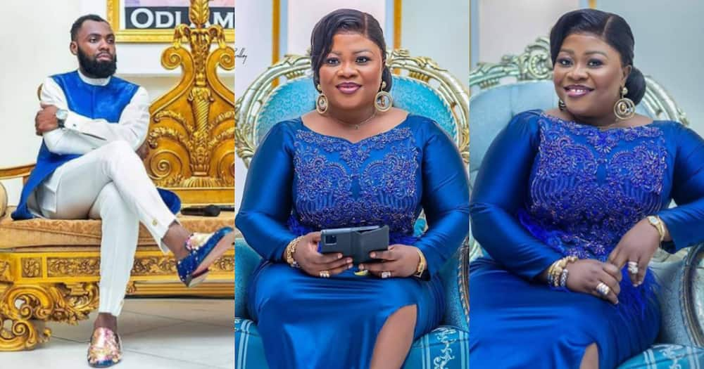 Fashion goals: 5 stunning photos of Rev Obofour and wife Ciara in royal blue outfits stuns
