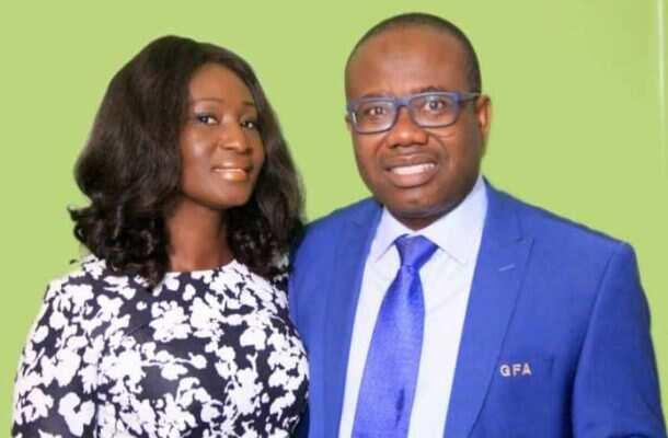 Kwesi Nyantakyi and wife. Photo credit: Facebook