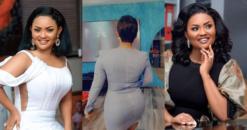 McBrown Shows Off Her Shape In Bodycon; Lady Claims She Bought Same Dress For GHC20 (Video)