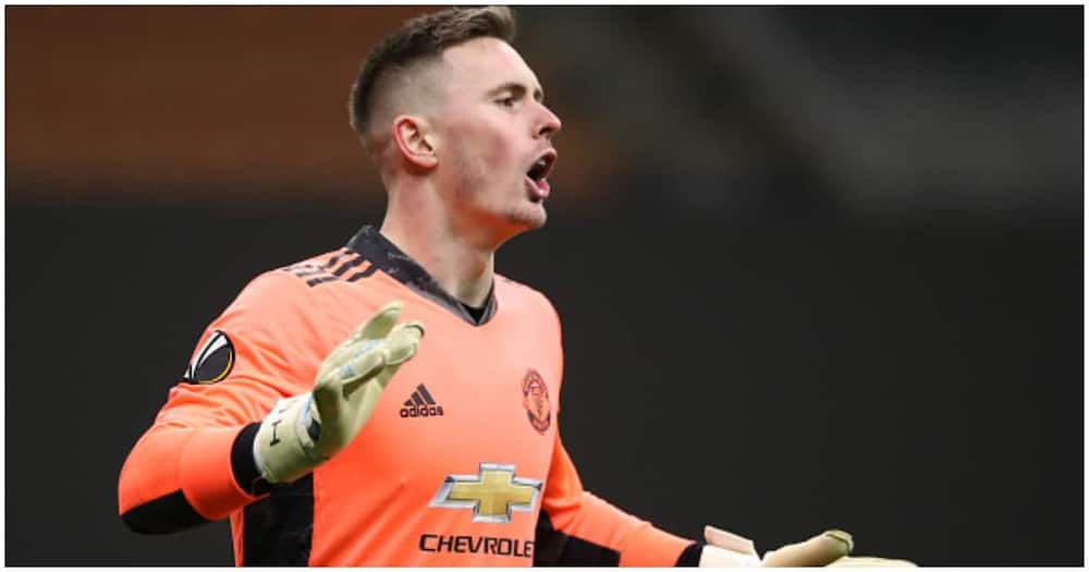 Dean Henderson while in action for Man United. Photo: Getty Images.