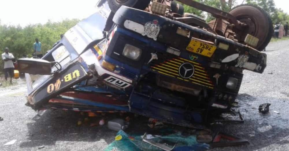 Accra-Kumasi highway: 5 dead in fatal accident after wrongful overtaking