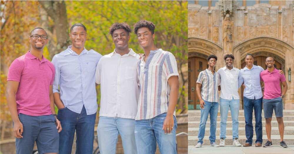 US Quadruplets Who Attended Prestigious Yale University Together Graduate Same Day