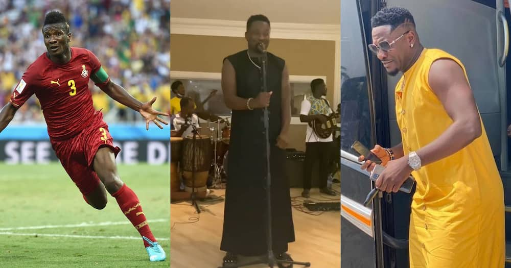 The music man - Asamoah Gyan delivers soothing live band performance; videos drops
