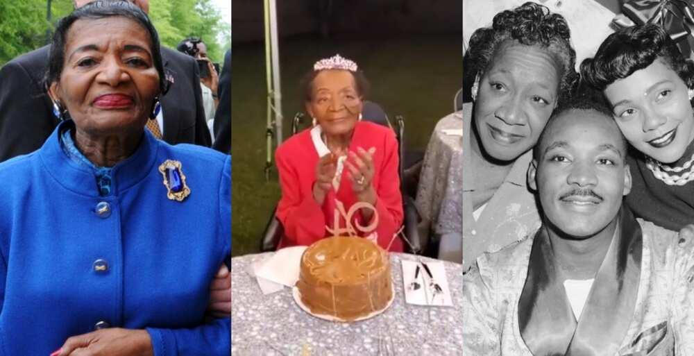 Oldest sister of Martin Luther King Jr celebrates 94th birthday; internet celebrates her