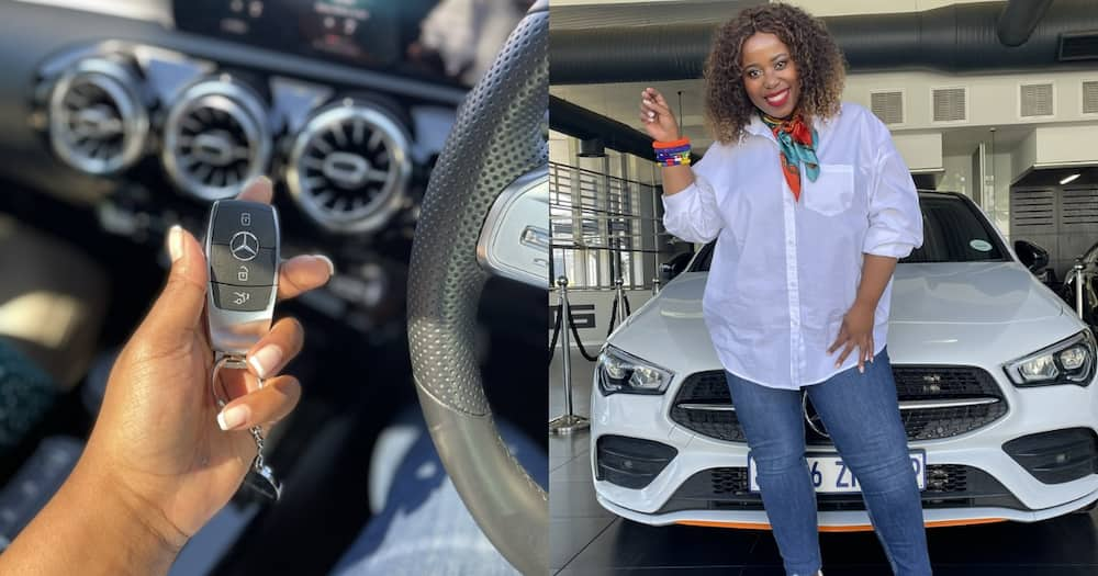 Lady Blesses Herself With Expensive Benz, Shares Snaps of New Beast