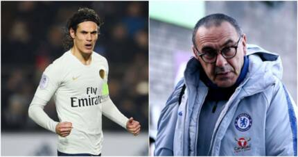 Edinson Cavani is Sarri's no.1 target to replace misfiring Morata and Giroud