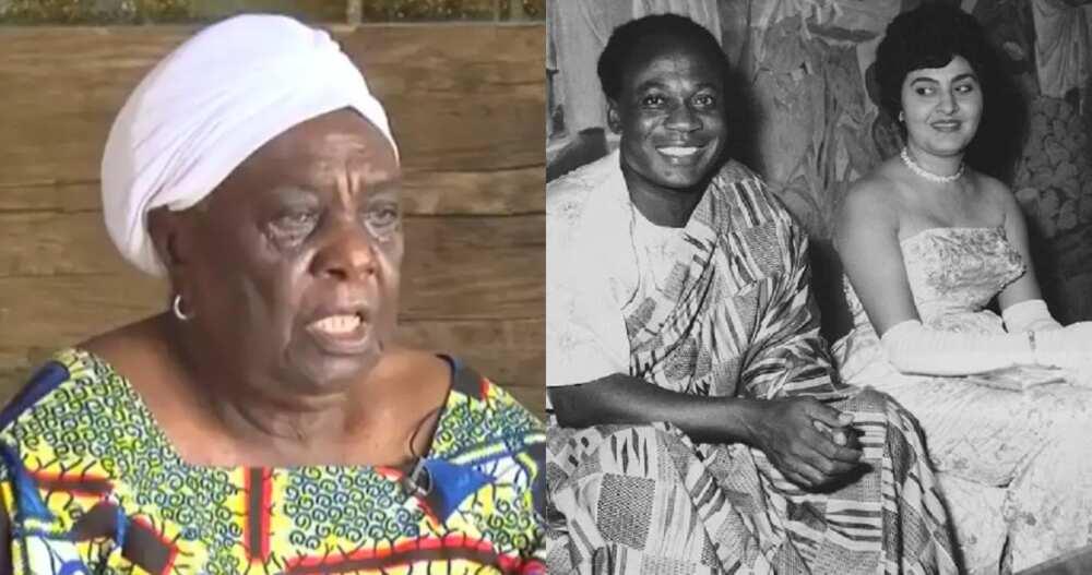 Madam Emma Florence Yaa Adinyira Amedahe, the former lady-in-waiting to Dr Kwame Nkrumah's wife