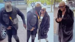 Medikal and Fella give couple goals as they dance on UK streets
