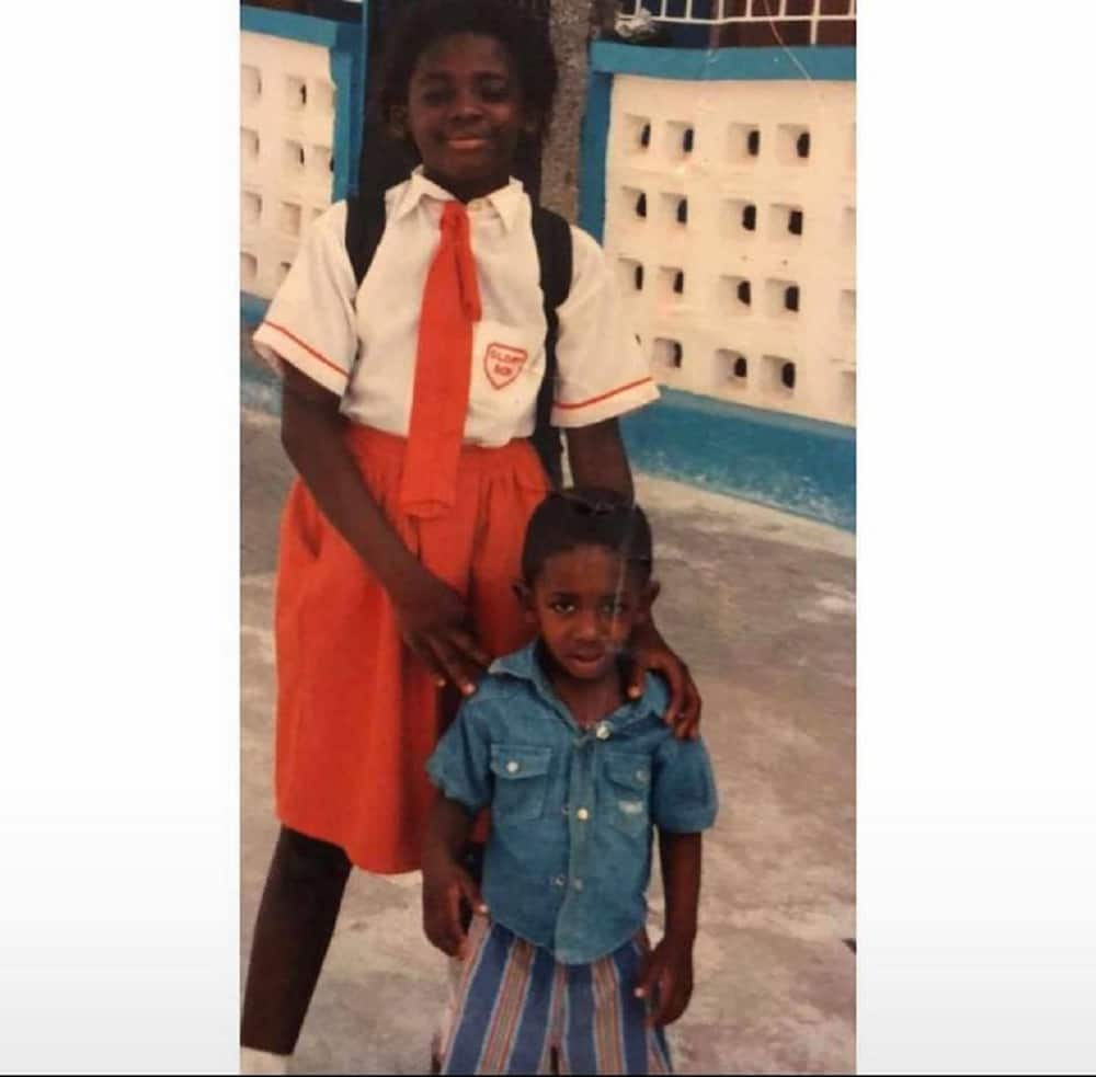Throwback photo of Tracey Boakye in primary with school back at her back causes stir