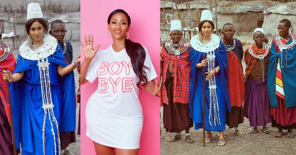 Hajia4Reall crowned Princess in Tanzania; given new name Malkia Wa Kimasaai