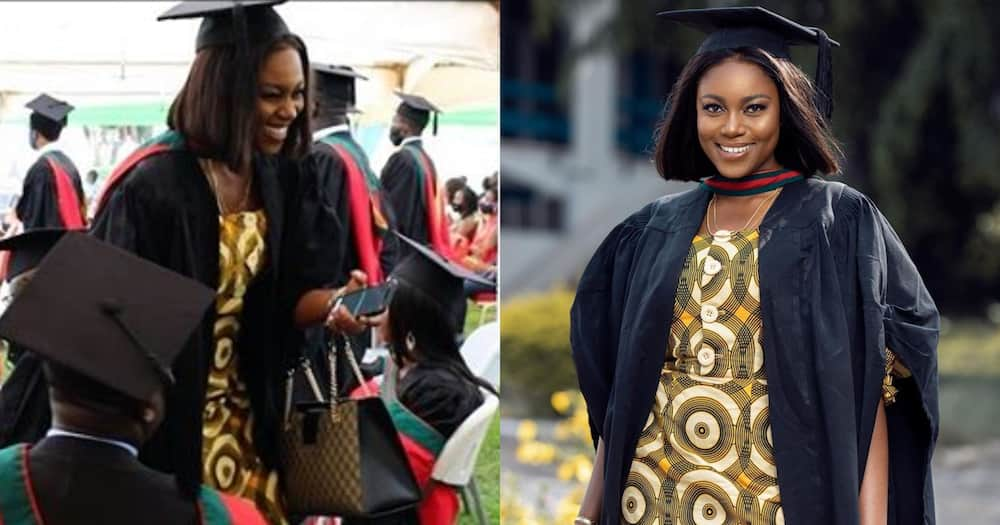 Yvonne Nelson grabs a Masters degree; photo drops