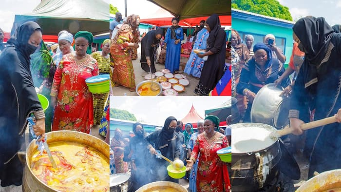 Samira Bawumia cooks and feeds entire 'village' of husband's mother in video ahead of her funeral