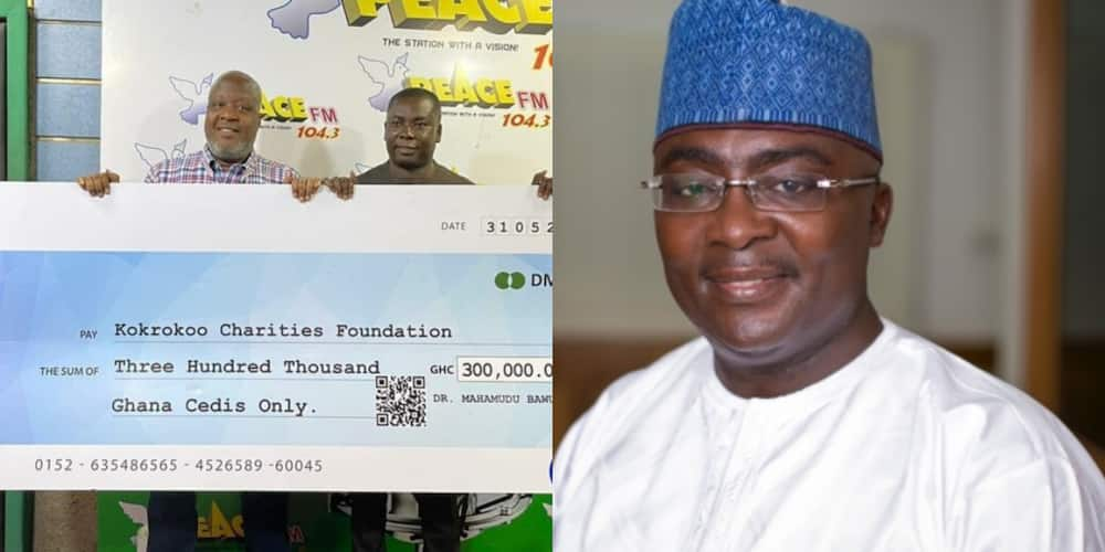 Bawumia donates GHS300,000 to Kokrokoo Charities Foundation to buy five incubators