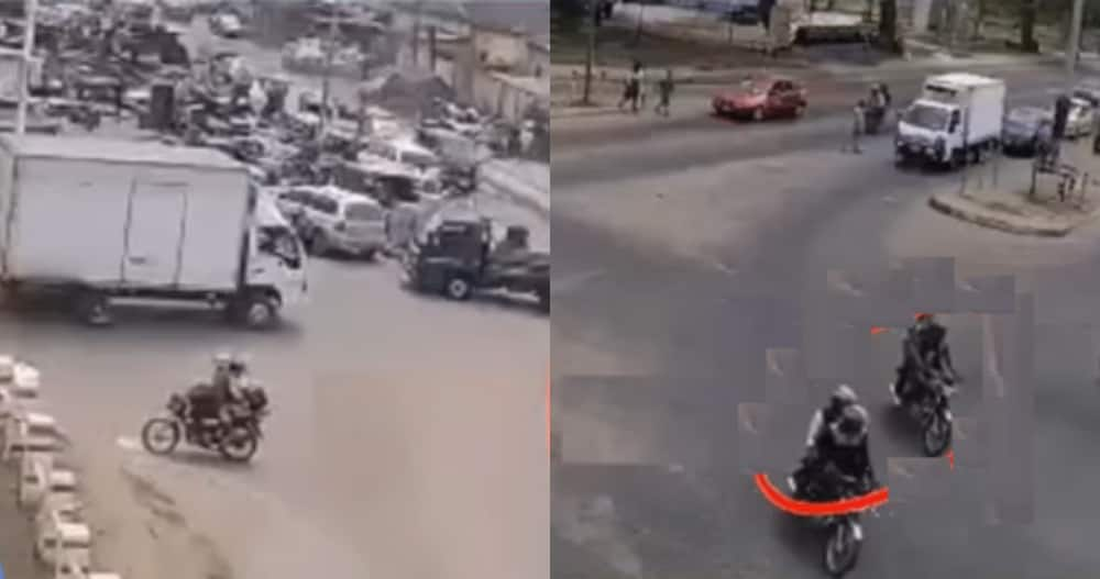 CCTV footage showing bullion van robbers in action finally surfaces
