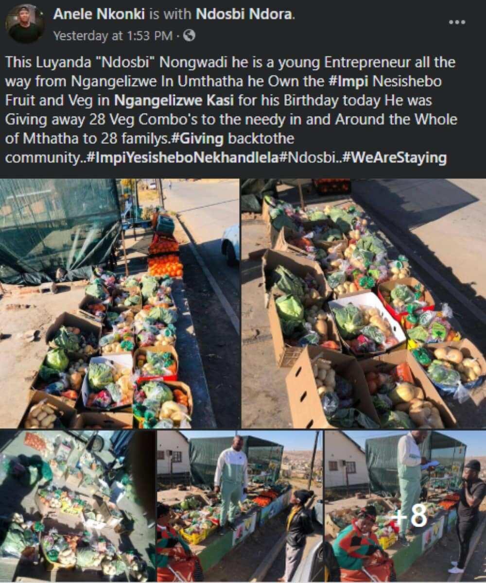 Young entrepreneur celebrates his birthday by feeding 28 poor families