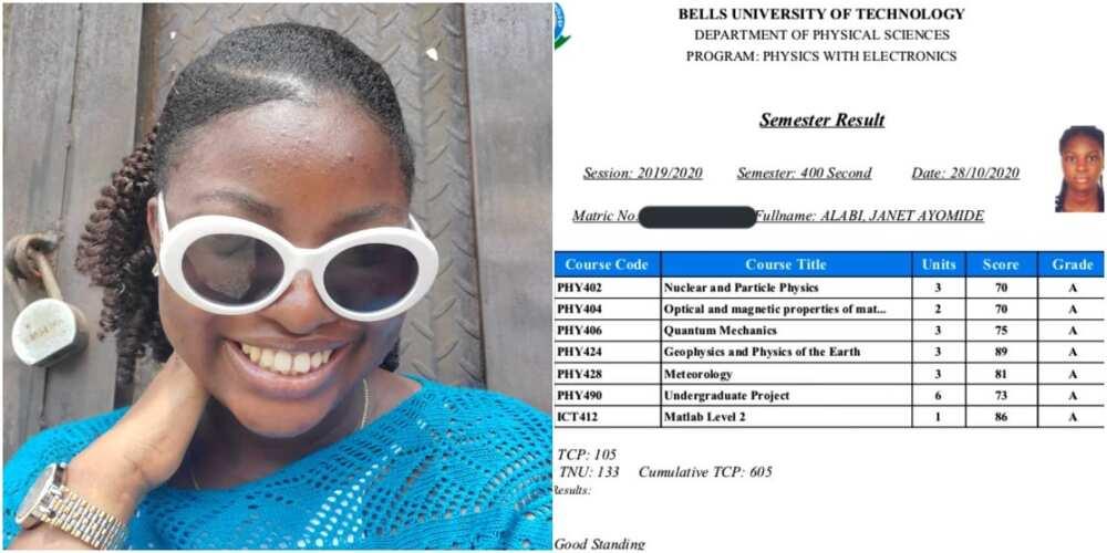 Nigerian lady makes 5.0 GPA