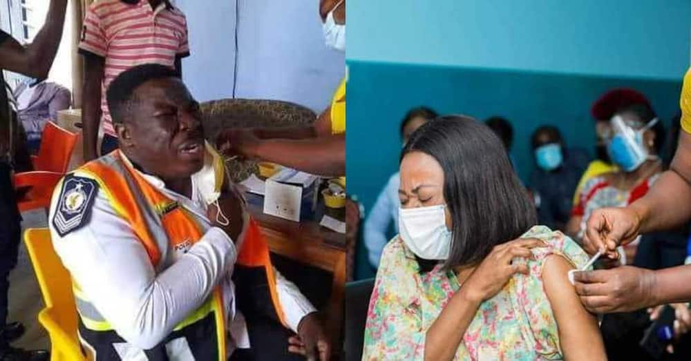 Hilarious reactions as Ghanaians start taking COVID-19 vaccine crack ribs online