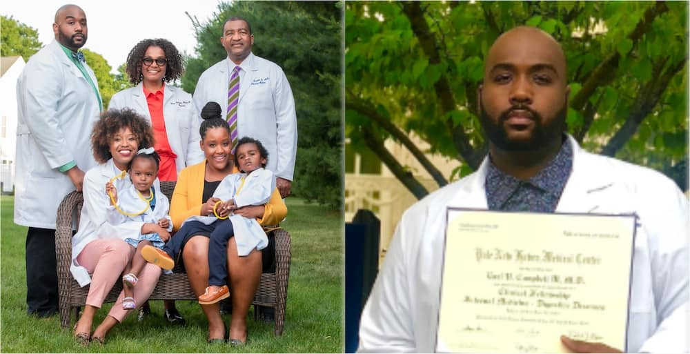 PHOTO: Young Black man celebrates other family members with top degrees as he graduates from varsity