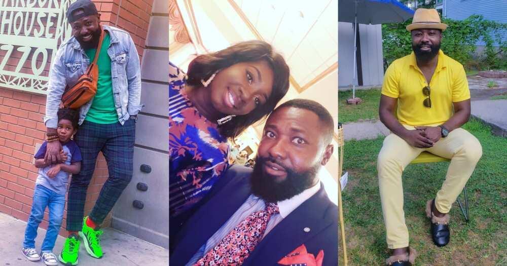 Bernard Aduse-Poku: Kumawood actor flaunts wife and son in new photos