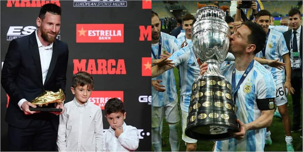 Messi Stunned As His Son Shows Great Skills In A Football Game Involving His Brother, Dad And Friend