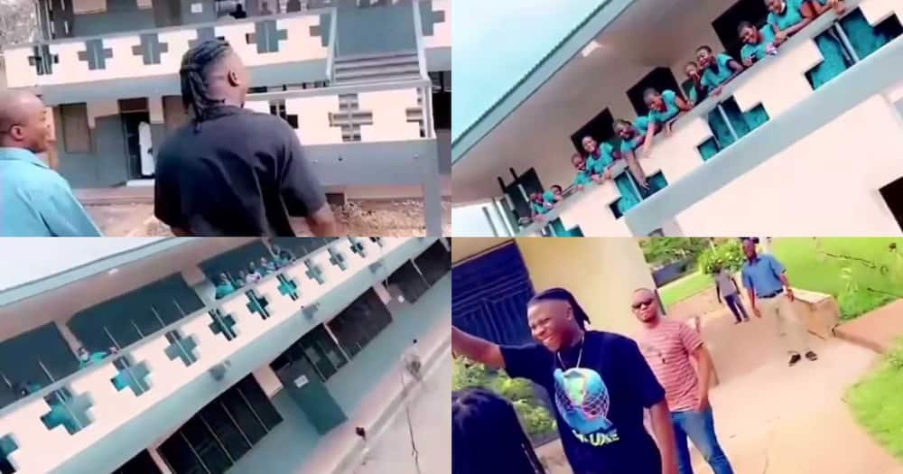 Stonebwoy: Girls At St Roses Go Gaga As Musician Storms Their Campus (Video)