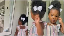 You Are a Naughty Bird; Little Girl Says to her Mum, Screams on Seeing her Look in Mirror after Using Make up