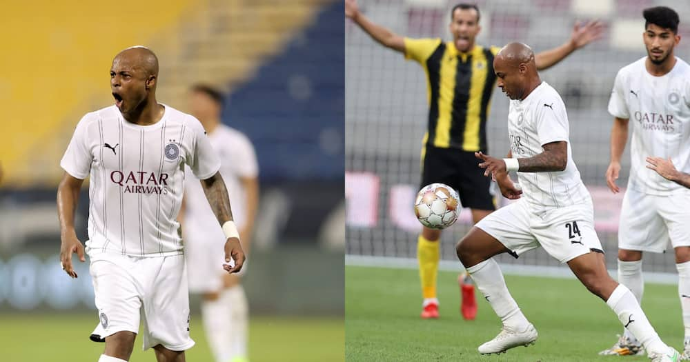 Ghana captain Andre Ayew nets first league goal for Al Sadd; video drops